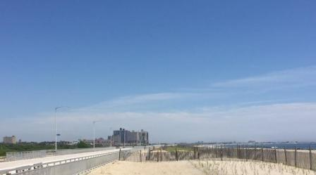 looking east from Beach 44th Street